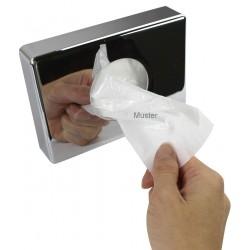 Holder for box of sanitary bag - cromed