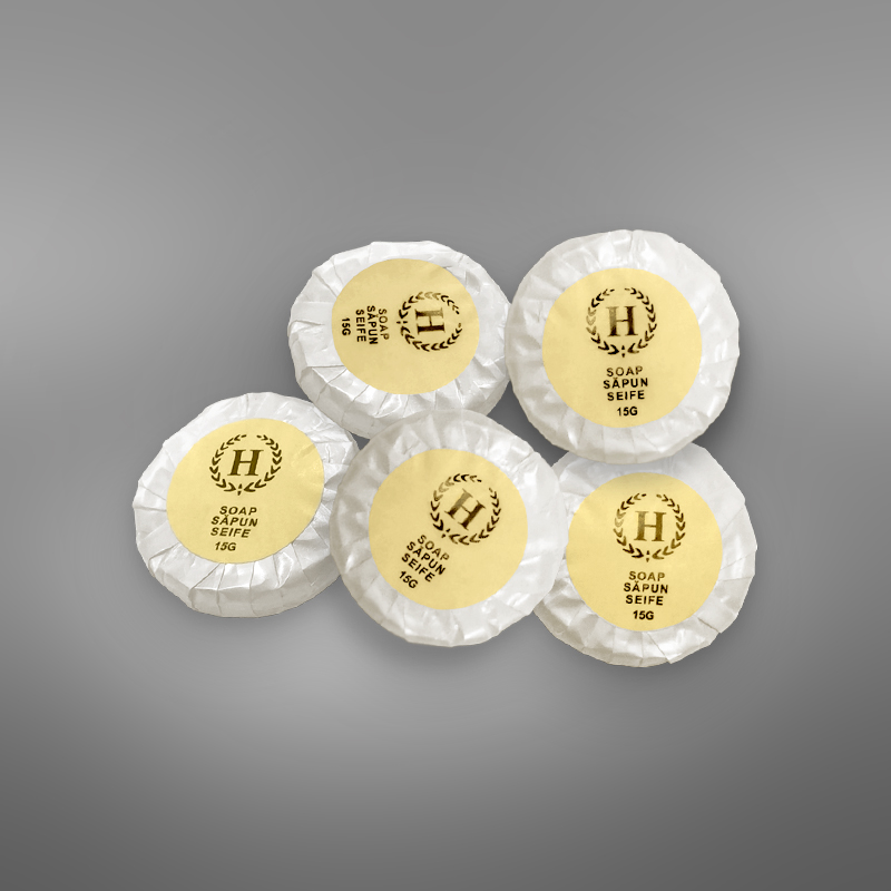 """Round soap """"H"""" Line yellow"""