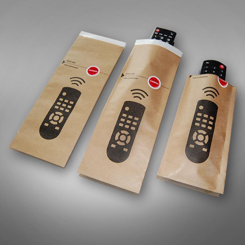 Remote control bag brown