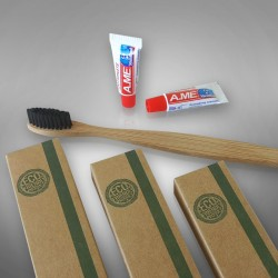 Eco Friendly toothpaste with toothbrush