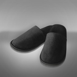 Velour Slipper black