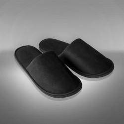 Velour black slipper